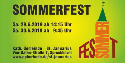 Ankündigung Sommerfest