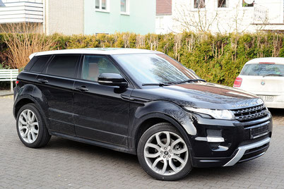 LandRover Evoque mit Rear Seat Entertainment Aussenansicht