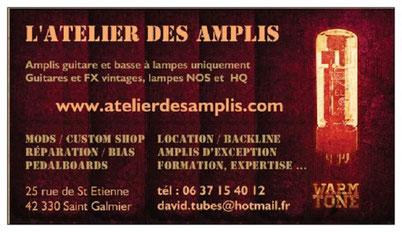 Carte de viste Atelier des Amplis