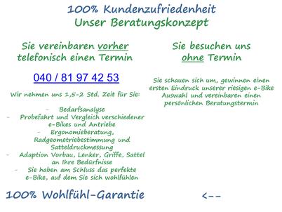 Kundenzufriedenheit e-motion e-Bike Welt Hamburg
