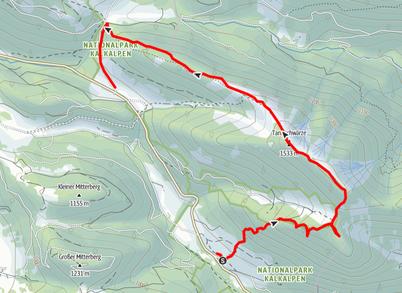 Rumplmayrkreuz - Kampermauer - Wildererblick - Schwarzkogel - Tannschwärze