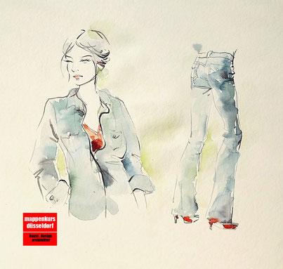 Mappenkurs Düsseldorf NRW, Modezeichnen, Modedesign