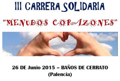 III CARRERA SOLIDARIA MENUDOS CORAZONES - Baños de Cerrato, 26-06-2015