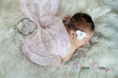 Baby Newborn Wrap,Pucktuch,für die Newborn-Babyfotografie zum Pucken, Einwickeln, Drüberlegen, oder als Hintergrund u.v.m. Spitzenwrap Neugeborenes Baby Neugeborenen Wrap Wrapping Pucken Tuch Babyahooting,Newbornshooting,Spitzentuch Outfit set