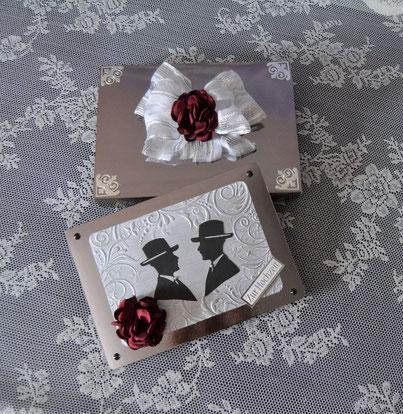 Geschenkbox mit Karte für Männerhochzeit