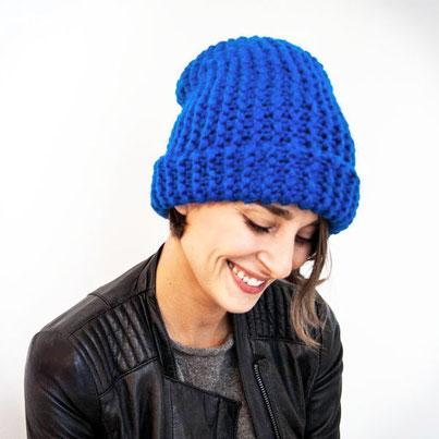 Wooltwist Strickset für Anfänger Maxie Mütze