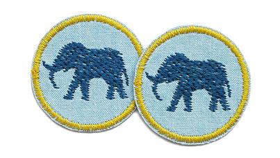 Bild: Elefant Patch Jeans Flicken mini für Mädchen Accessoire zum aufbügeln