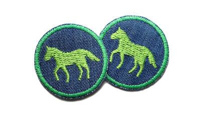 Bild: Jeansflicken Pferd Bügelbild Patch zum aufbuegeln