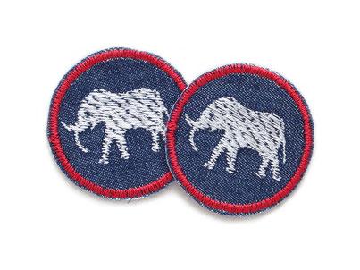 Bild: Jeansflicken Elefant Bügelbild Patch zum aufbuegeln