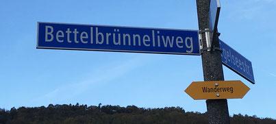 der Bettelbrünneliweg nahe des neuen Elisabetha-Hess-Schulhauses
