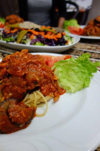 トマト&ナスのスパゲティ