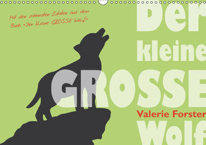 Valerie Forster, Kalender, Cover, Der kleine GROSSE Wolf