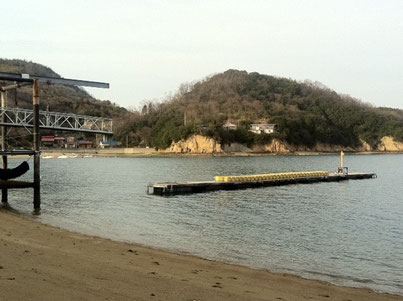 広島の海! 宿泊地のすぐ前が穏やかな海でした
