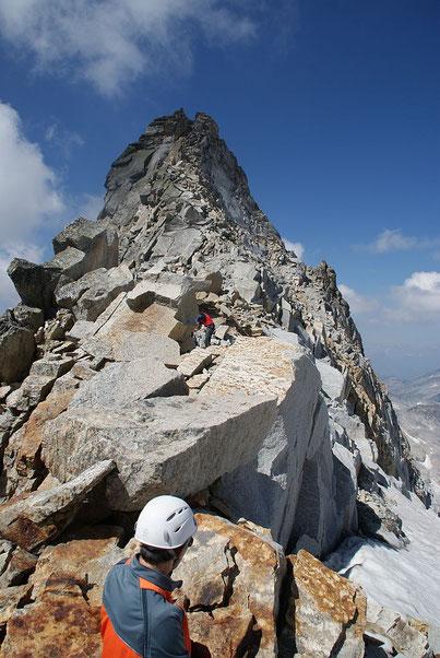 Der luftige Gipfelgrat