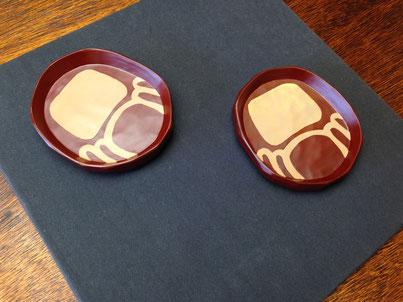 だるまのまめ皿|鎌倉漆工房いいざさ