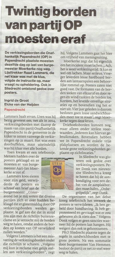 Algemeen Dagblad 22 februari 2018