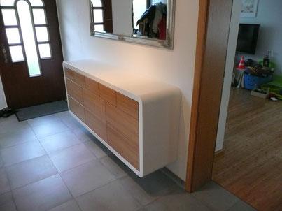 Flur Möbel Schrank Designschrank Eiche formverleimt