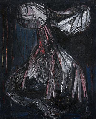 Madone noire 2 - 100/81 cm - Acrylique/toile