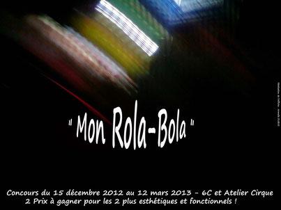 """Affiche concours """"Mon Rola-Bola"""" Concept et Réalisation : A. Dubus"""