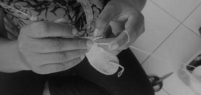 balinese crochet woman