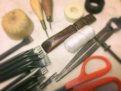 レザークラフト道具(森山工房の革教室)