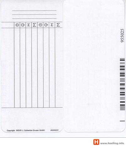 Stempelkarte ISGUS PERFECT 2040 mit Barcode  Hoelling Zeiterfassung