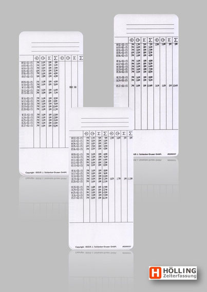 Stempelkarte ISGUS PERFECT 2040  - rechnende Stempeluhr - Stempeluhr mit Rechenfunktion