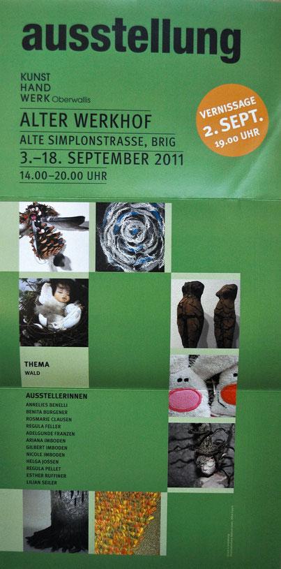Ausstellung zum Thema «Wald» zusammen mit dem Kunsthandwerk Oberwallis 2011