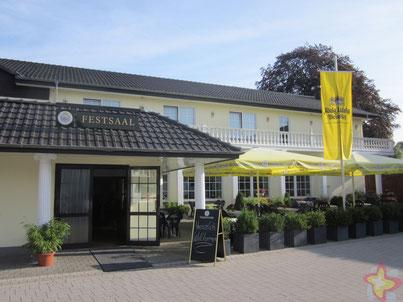 Hotel Adelmann Rietberg Mastholte Eingang Festsaal Biergarten