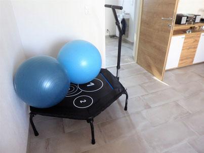 Trampolin für BM-Balance Training bei Physio Susanne - Physiotherapie Neusiedl am See