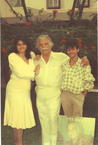Daniel y sus hijos, Hotel Intercontinental - Cali, Danilú y David.