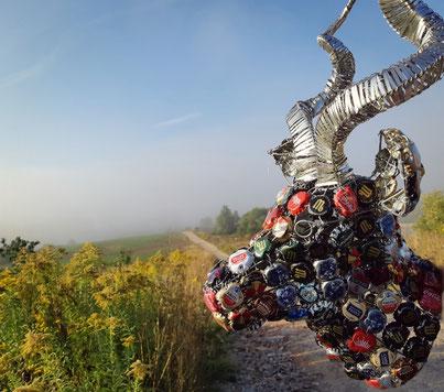 Upcycling Dekoration kaufen, Geschenkidee, Deko Antilope
