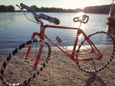 Upcycling Dekoration kaufen, Geschenkidee, Fahrrad Deko