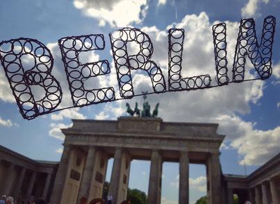 Upcycling Dekoration kaufen, Geschenkidee, Deko Schriftzug Berlin