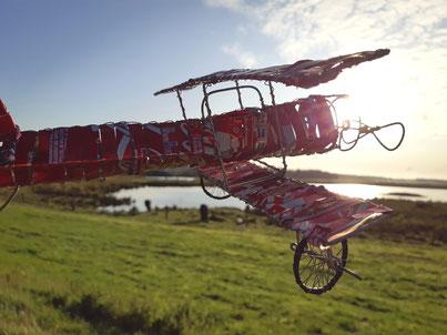 Upcycling Dekoration kaufen, Geschenkidee, Flugzeug, besonders