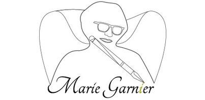 L'auteur MArie Garnier en super-héroïne en vectoriel réalisé par Cloé Perrotin, sur le BLOG : la Bulle Ludique Originale Gratuite sur