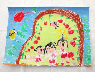 絵画 / りんご狩り