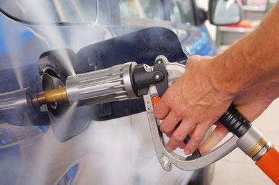 Autogas tanken mit einem LPG Adapter
