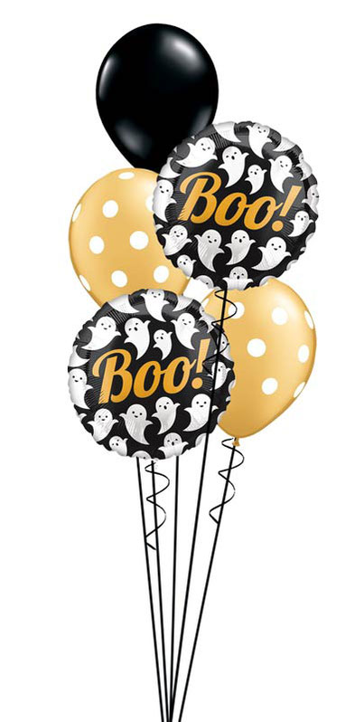 Folienballon Luftballon Ballon Happy Halloween Monster Bouquet Strauß Überraschung Mitbringsel Versand Helium Boo Gespenst Geist Gespenster Geister