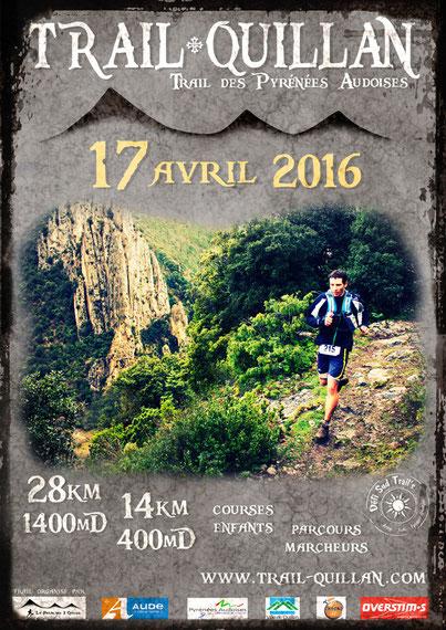 Affiche Trail Quillan 2016