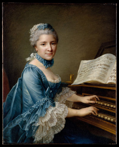 Gemälde von François Hubert Drouais - Madame Charles Simon Favart (1757) - www.metmuseum.org
