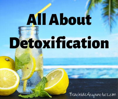 All About Detoxification - Lemon Water on a Beach