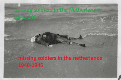 The body of a French soldiers who washed up on the coast (collection P. Reinders)