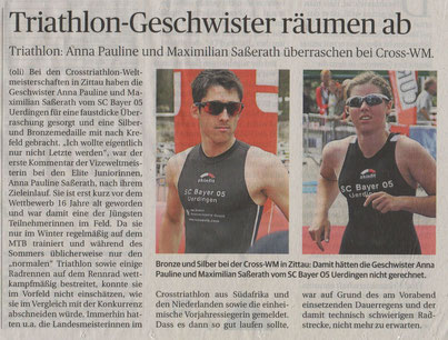 Sportjahresrückblick Rheinischen Post am 27.12.14