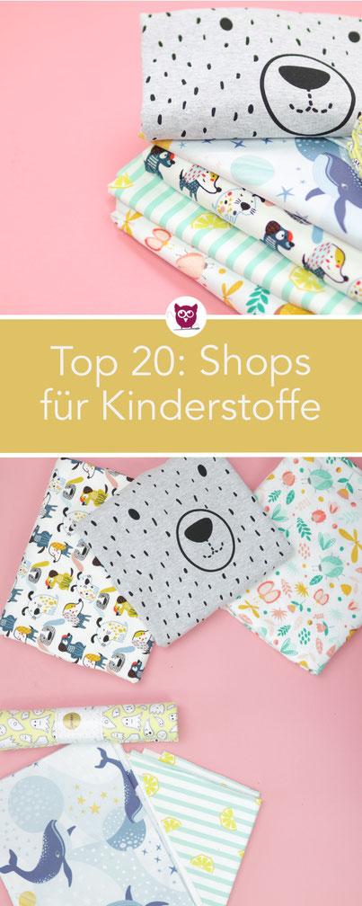 [Werbung] Stoffe Online Kaufen: Top 20 Stoff-Shops – eine Auswahl von DIY Eule mit Fokus auf Kinderstoffe und süße Designs, Kindermotive, Tiermotive und mehr.