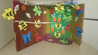 Le Jardin réalisé par A. (âgée de 4 ans), animé par Marina