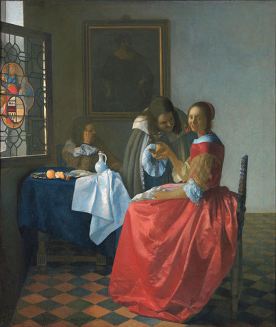 Das Mädchen mit dem Weinglas Vermeer