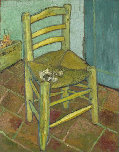 Vincents Stuhl mit Pfeife