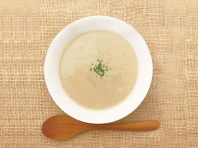 葉ごぼうの和風ホワイトスープ