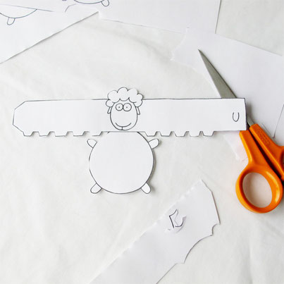 Beatrice Winkel - Schafe ausschneiden
